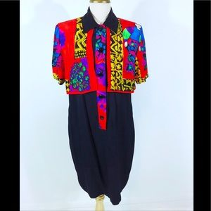 Vintage Abstract Dress